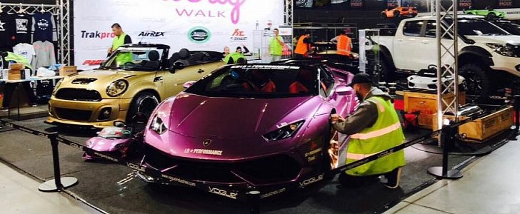Purple Liberty Walk Huracan Spyder Joined by Gold Widebody ...