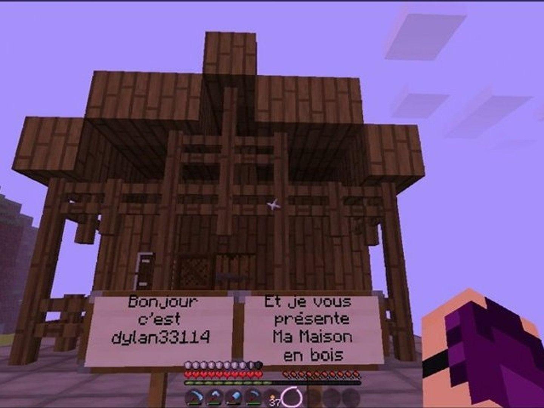 Minecraft Presentation De Ma Maison En Bois Video Dailymotion
