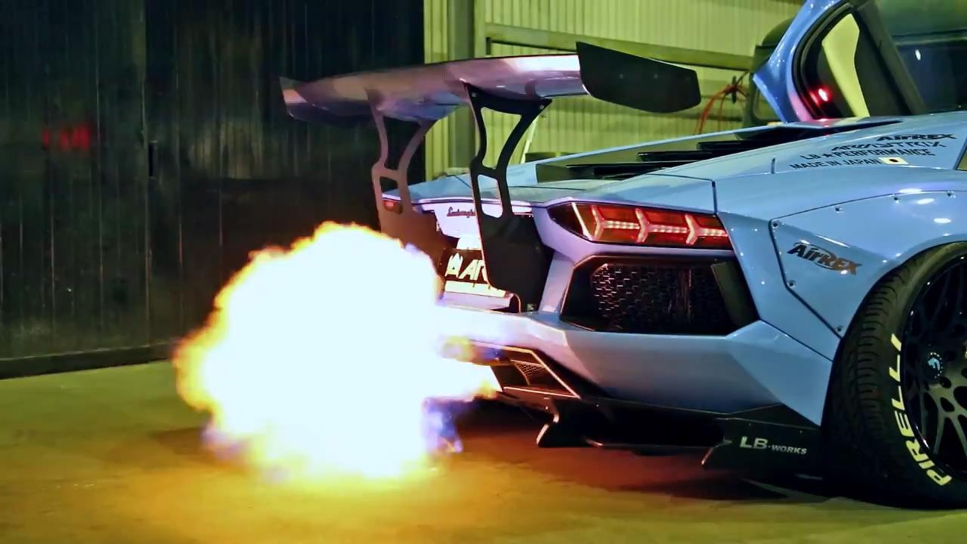 lamborghini aventador lp720 4 insane flames and exhaust sound