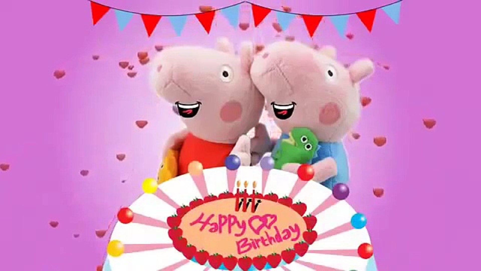 Peppa Pig Song Happy Birthday Song Nursery Rhymes For Kids Video Dailymotion