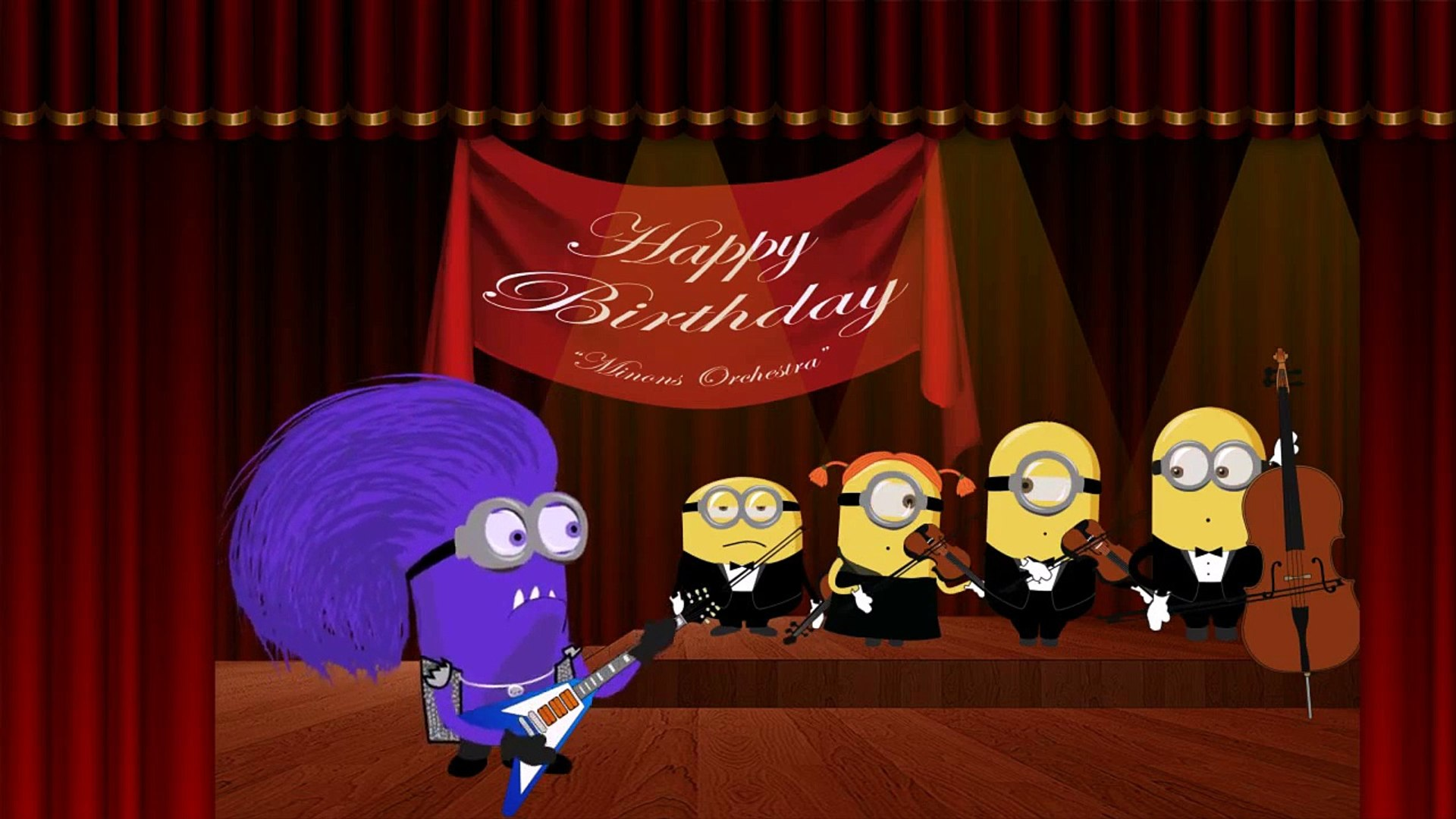 Minions Happy Birthday Song Crazy Funny War Edition Hd Dailymotion Video