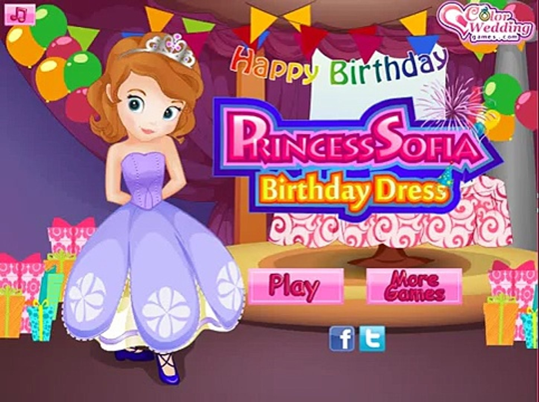 Disney Sofia Games Princess Sofia Birthday Dress Dress Up Game Video Dailymotion