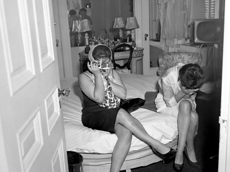 Unas prostitutas en Nueva York.