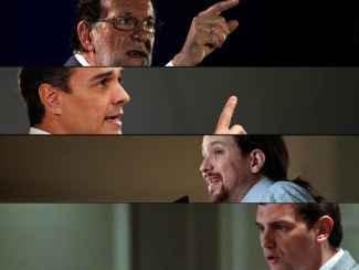 Los cuatro principales líderes de los partidos que estrenan su segunda campaña.