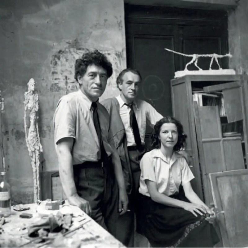 Alberto, Diego y Colette, retratador por Alexander Liberman, en los cincuenta.