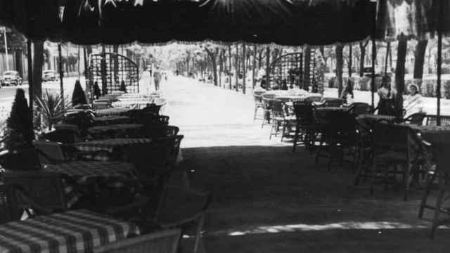 Terraza del salón de té. / Embassy.