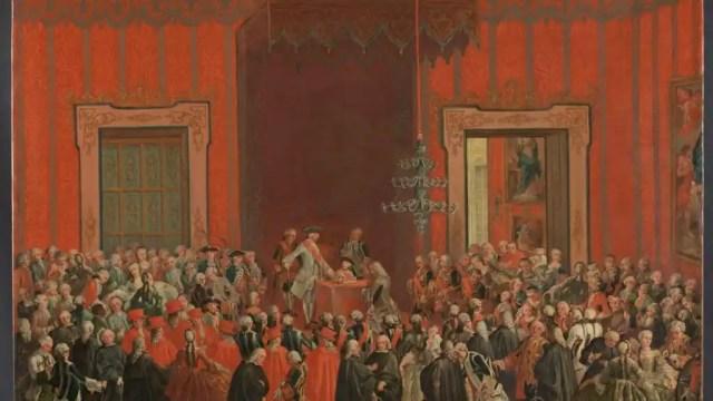 'Carlos III renuncia a la corona de Nápoles', un cuadro de Michelle Foschini.