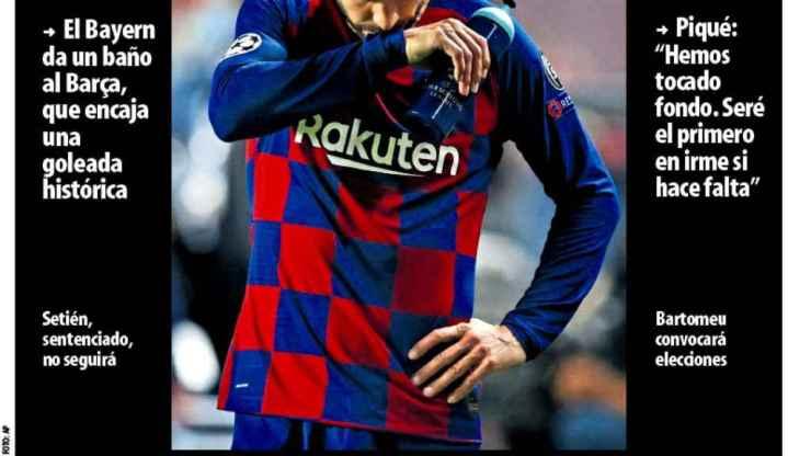 La portada del diario Mundo Deportivo (15/08/2020)