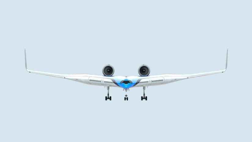 This will be the Flying-V, the aircraft that KLM wants to use in the future