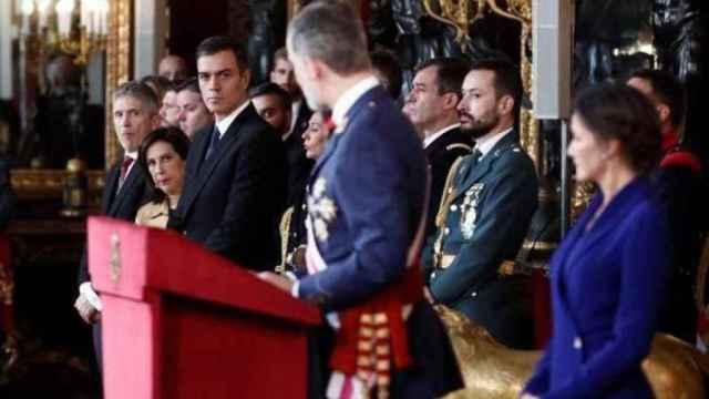 Los Reyes, en la celebración de la Pascua Militar.