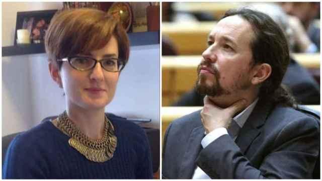 Mónica Carmona, exabogada de Podemos, y Pablo Iglesias, secretario general del partido.