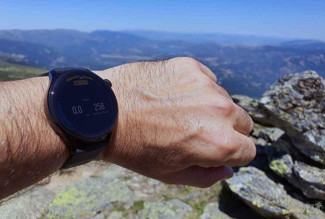 A plena luz del día en el pico de Peñalara al 35% de brillo