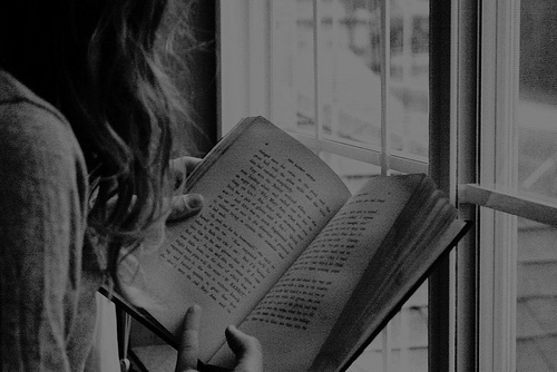 black and white, book, girl, old, photography