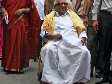 DMK chief M Karunanidhi. Reuters