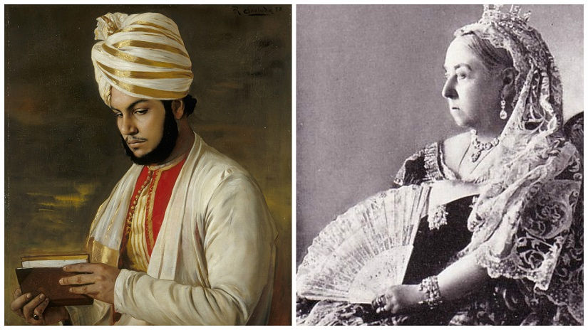 Portraits of Abdul Karim and Queen Victoria. Images via Wikimedia Commons