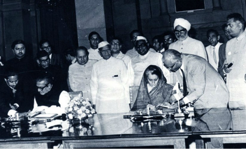 After the liberation of Bangladesh, India signed a friendship treaty with the newly carved country. Twitter @INCIndia