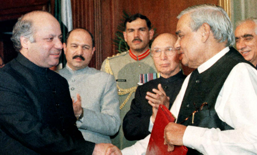 Vajpayee made a historic trip to Pakistan in February 1999, where he and his Pakistani counterpart signed the Lahore Declaration. Reuters