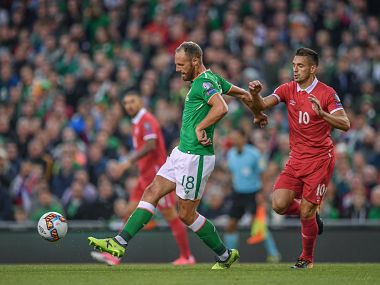 Ireland's David Meyler in action. Image courtesy: Twitter @FAIreland