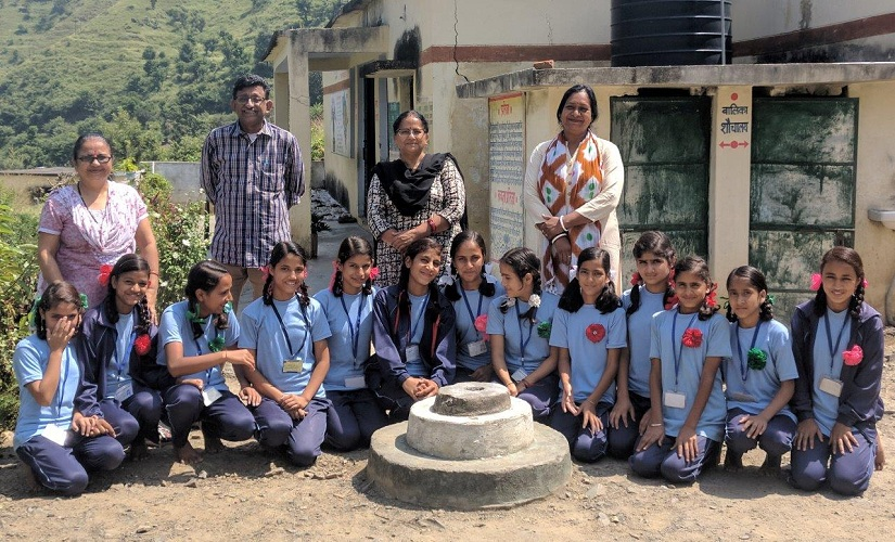 Students of Damta Kanya School with their teachers, proudly displaying the certificates they were awarded. Firstpost/Giridhar S
