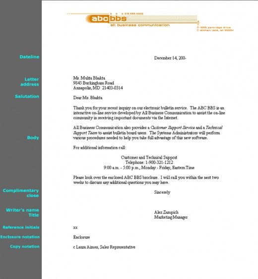 Request Letter Full Block Style - Cover Letter Templates