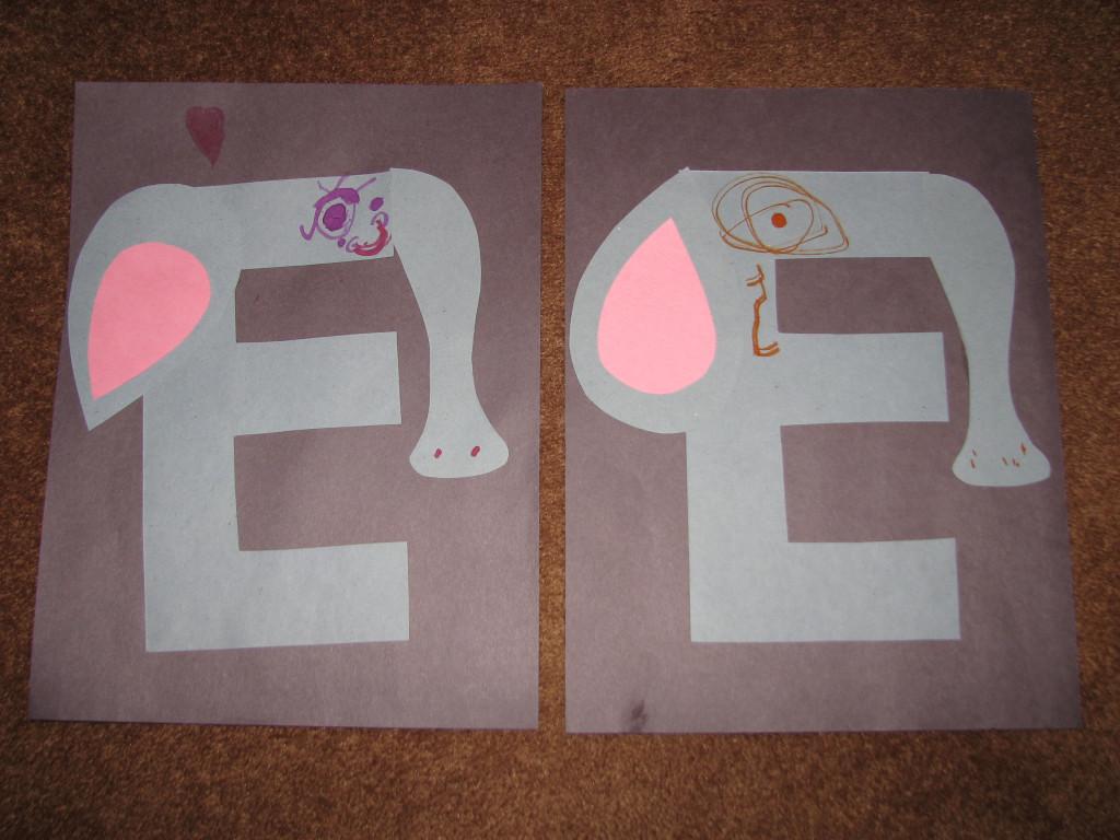 E Is For Elephant Letter E Activities For Kids