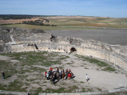The amphitheater of Segobriga, Spain