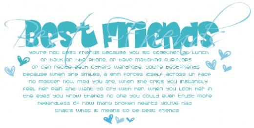 cute best friend poems