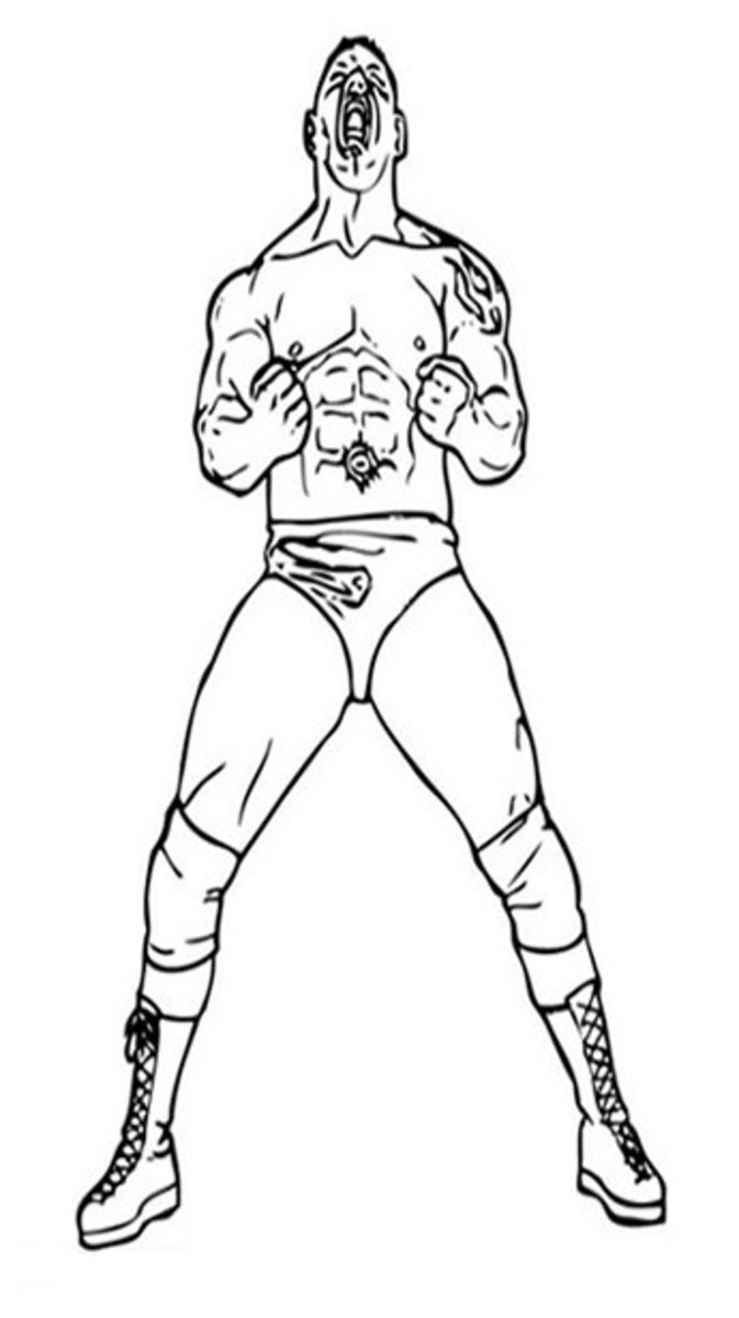 john cena coloring pages printable cooloring com