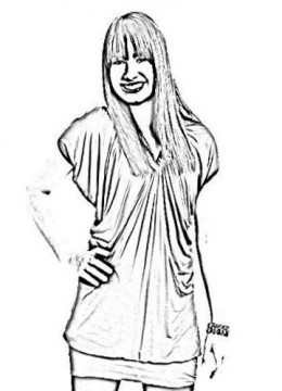 camp rock demi lovato colouring pages
