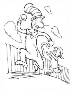 cat in the hat coloring free coloring pages