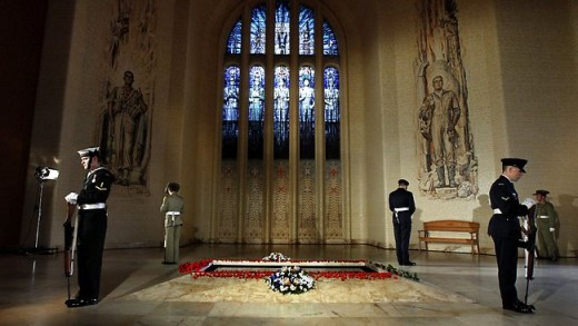 The Tomb of the Unknown Australian soldier represents all Australians who died in war.