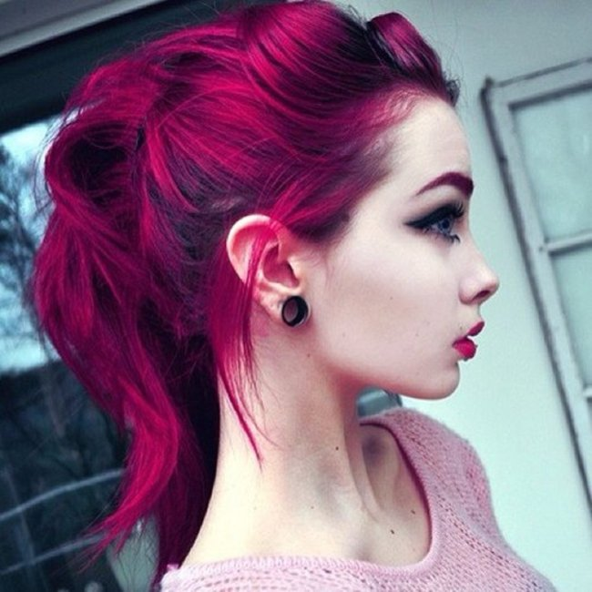 Magenta Red Hair Color