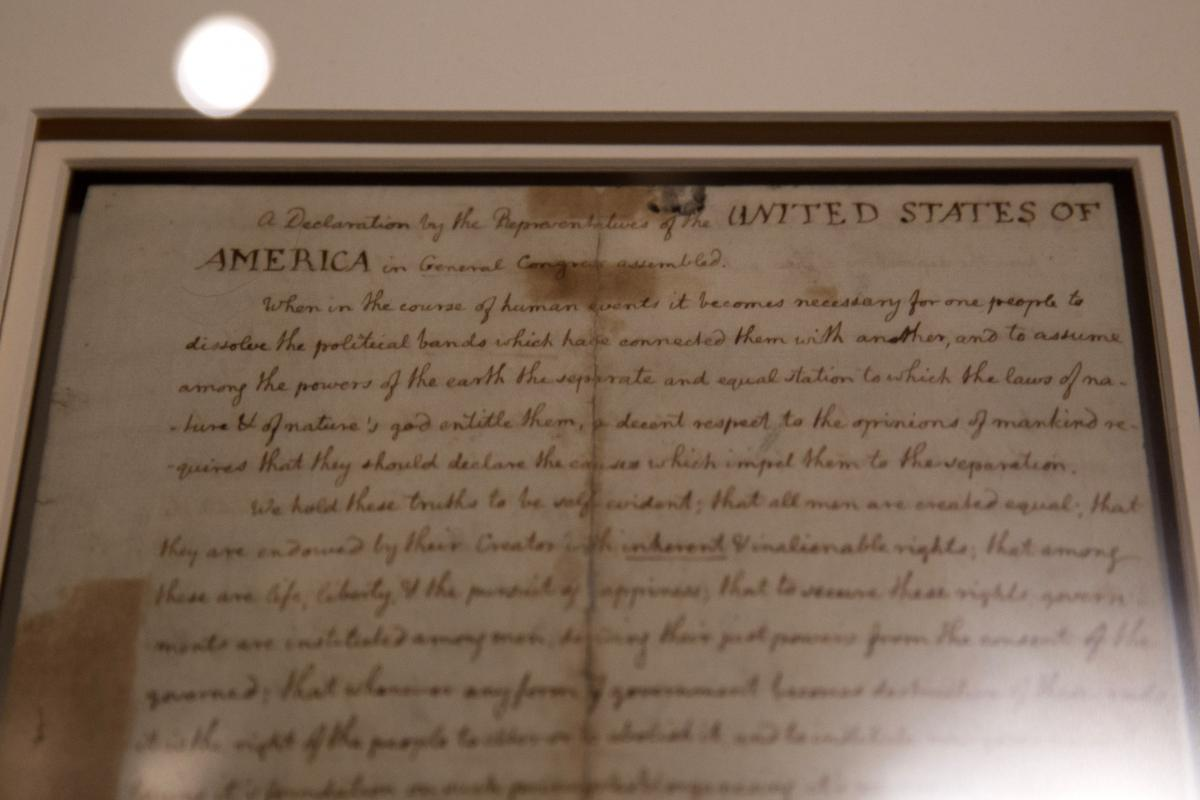 Declaration Of Independence Read Full Text On Fourth Of