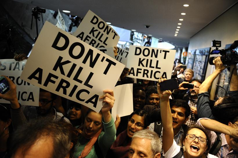 Africa climate change protest