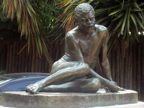 "Statue of  ""The Slave"", by Francisco Cafferata in Buenos Aires, Argentina"