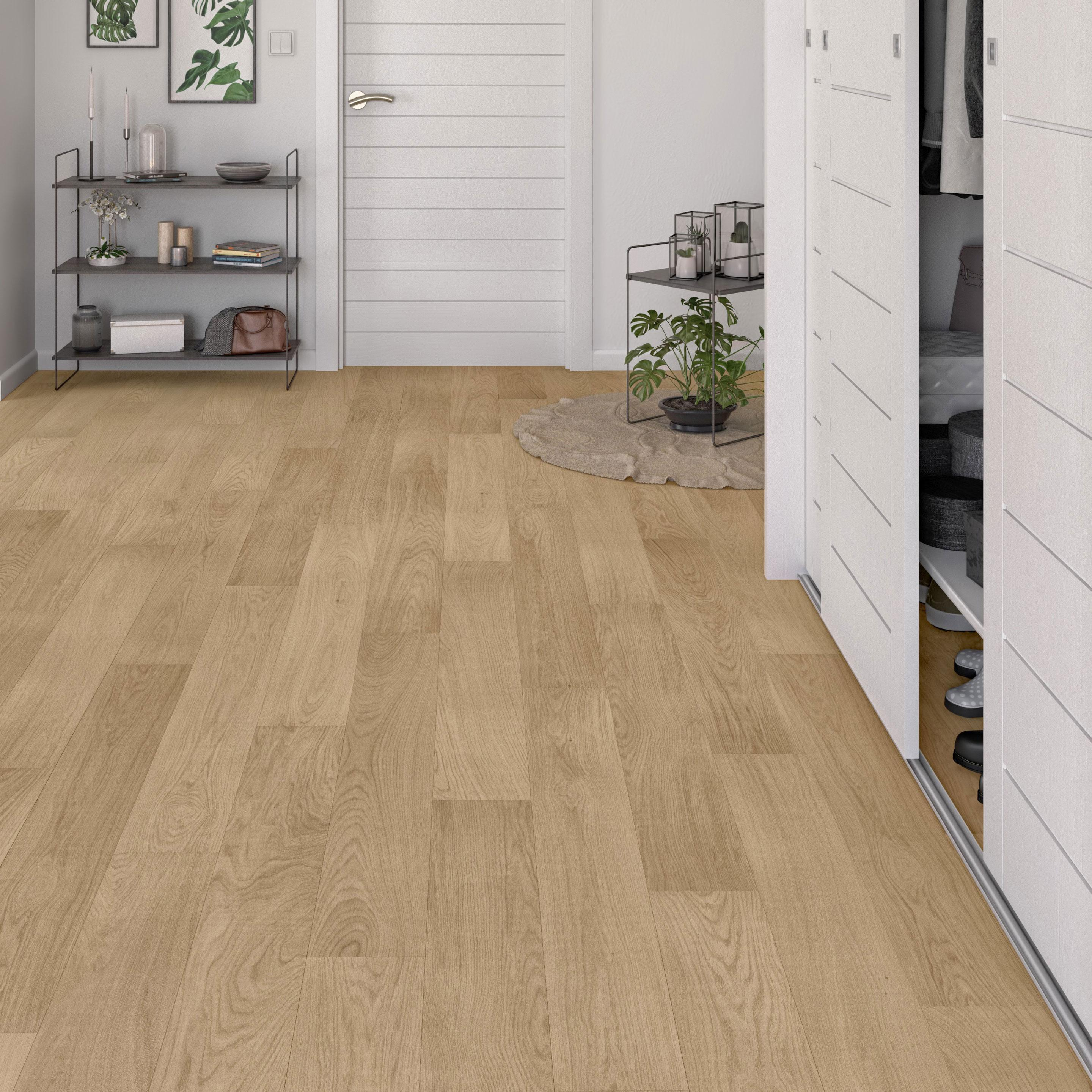 Parquet Bois Contrecolle Intenso Chene Europeen Naturel Huile L Artens Leroy Merlin