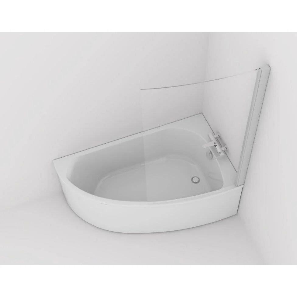 baignoire asymetrique droite l 150x l 90 cm blanc jacob delafon duomega 2