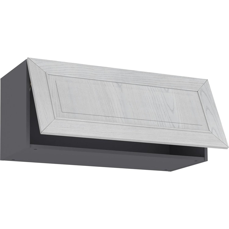 meuble haut de cuisine moscow chene blanchi 1 porte h 39 l 90 cm x p 35 cm leroy merlin