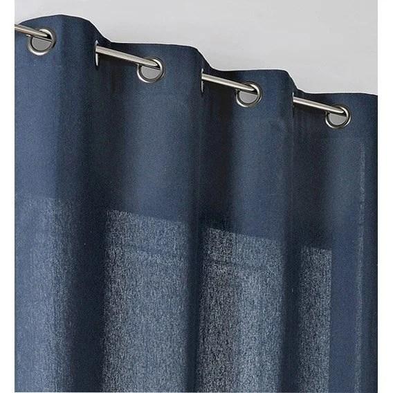 rideau tamisant metis bleu nuit l 135 x h 260 cm
