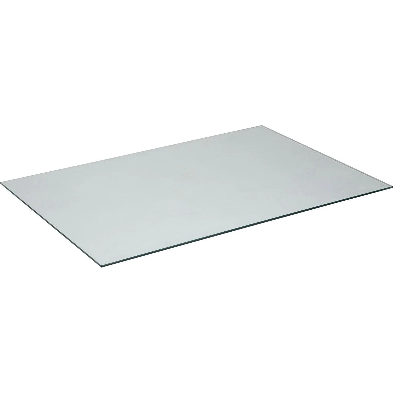plateau de table verre l 140 x l 72 cm x ep 8 mm