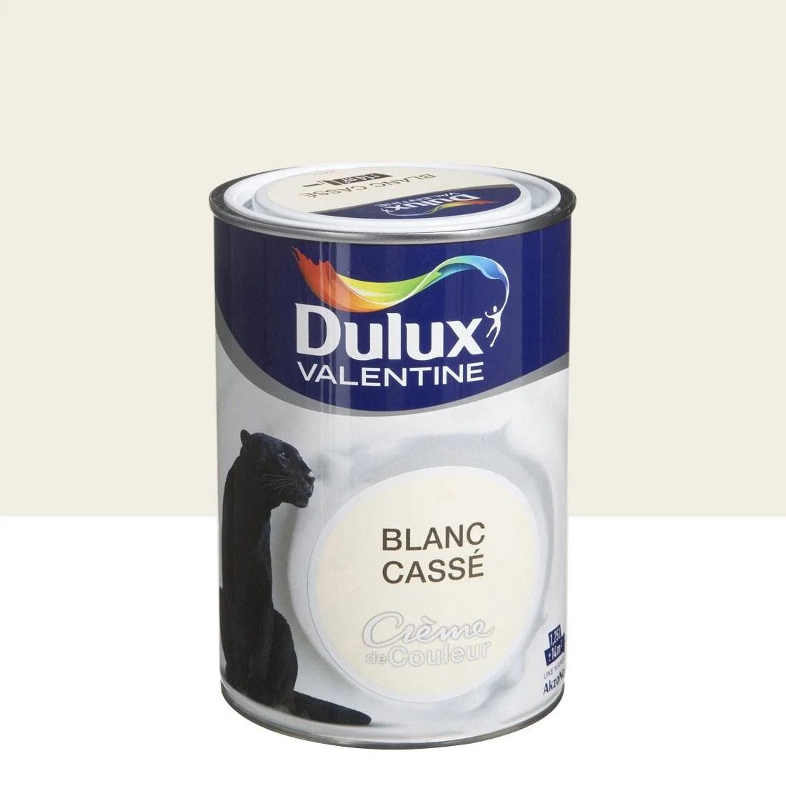 Peinture Blanc Cass Satin DULUX VALENTINE Crme De
