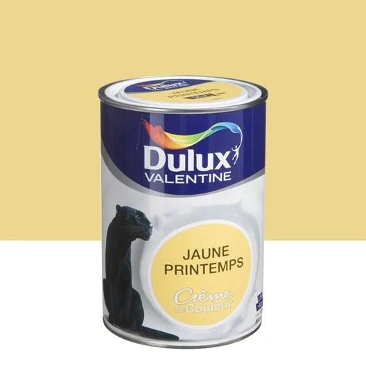 Peinture Jaune Printemps DULUX VALENTINE Crme De Couleur