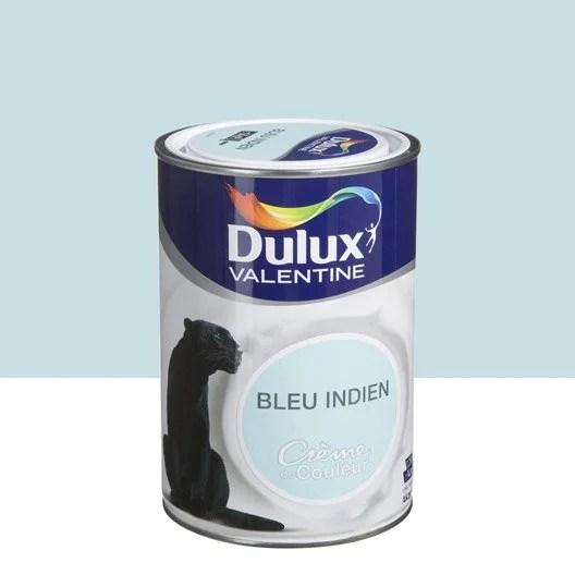 Peinture Bleu Indien DULUX VALENTINE Crme De Couleur 125