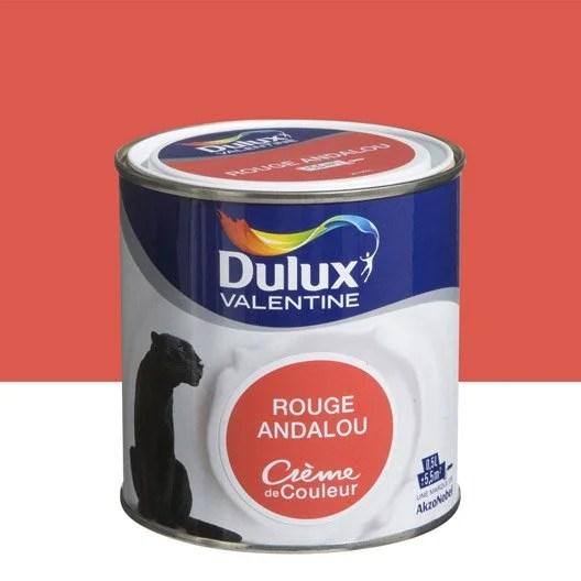 Peinture Rouge Andalou DULUX VALENTINE Crme De Couleur 0