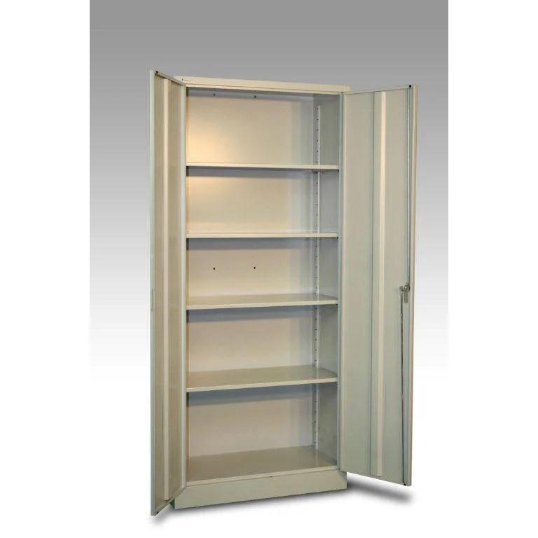 armoire haute metal 4 tablettes jds l 80 x h 180 x p 40 cm