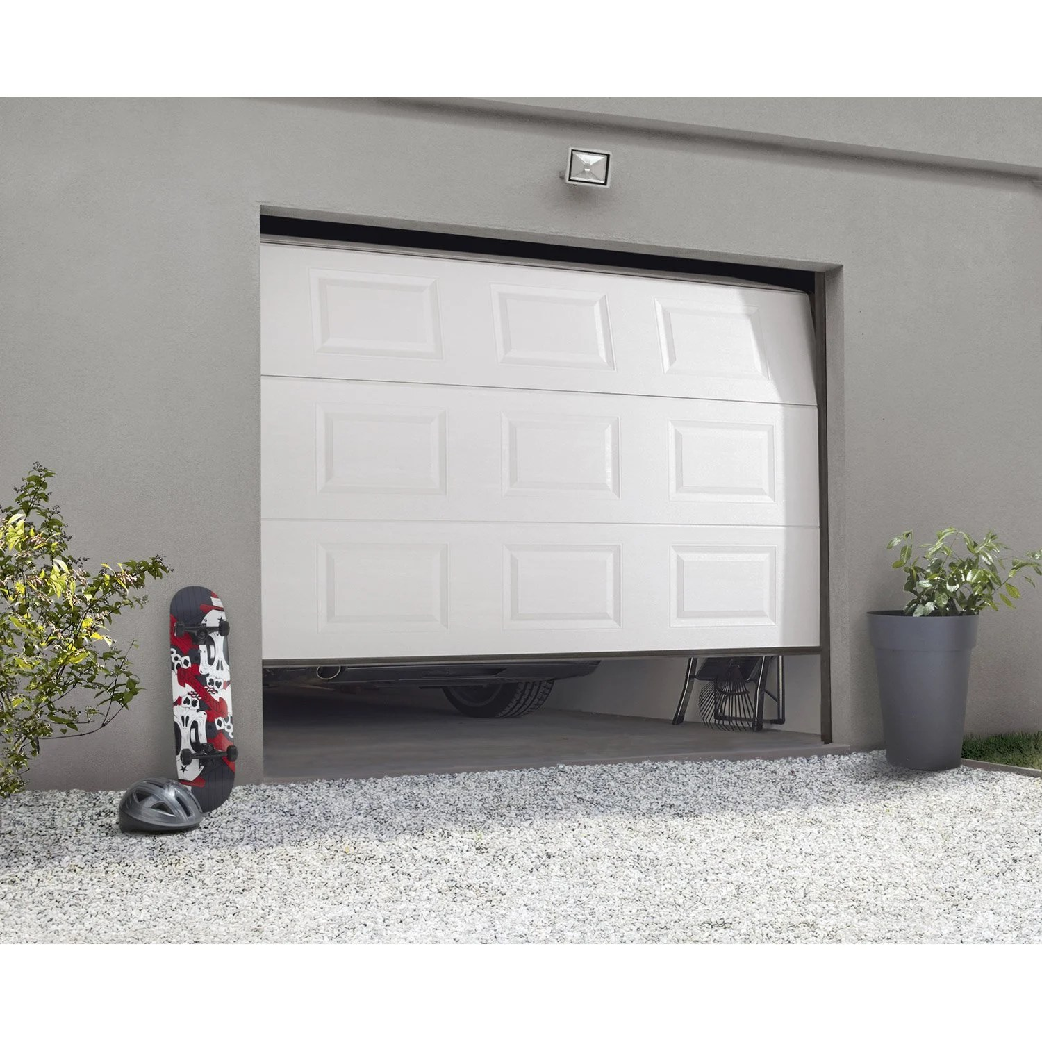 Porte de garage sectionnelle motoris    e ARTENS essentiel H 200 x l     Porte de garage sectionnelle motoris    e ARTENS essentiel H 200 x l 240 cm