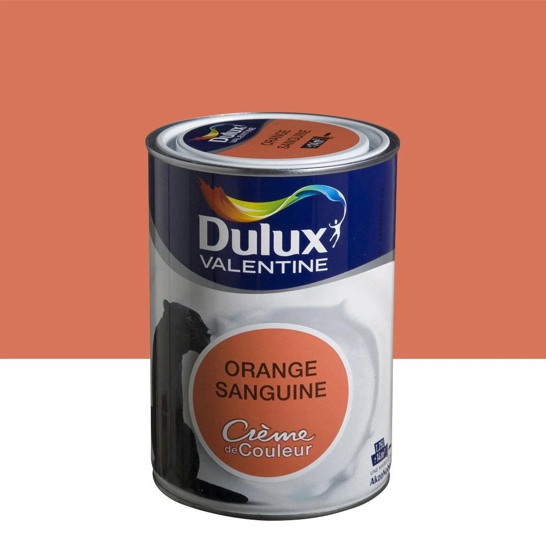 Peinture Orange Sanguine Satin DULUX VALENTINE Crme De