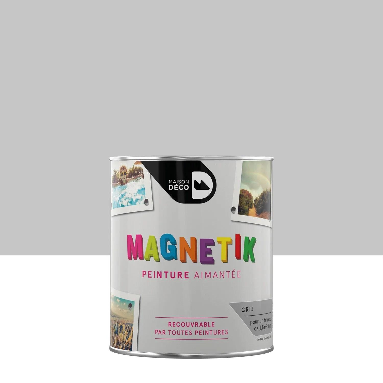 peinture magnetique gris satin maison deco magnetik c est genial