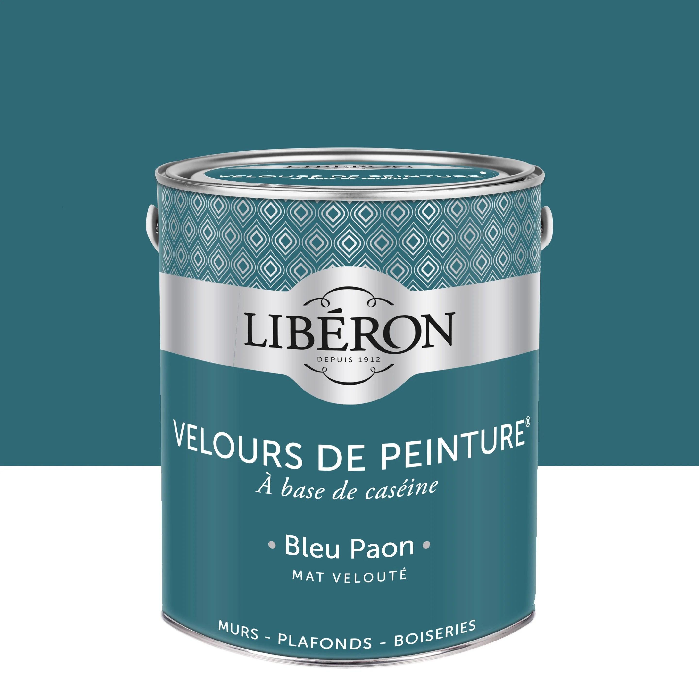 Peinture Mur Boiserie Radiateur Liberon Bleu Paon Velours 2 5 L Leroy Merlin