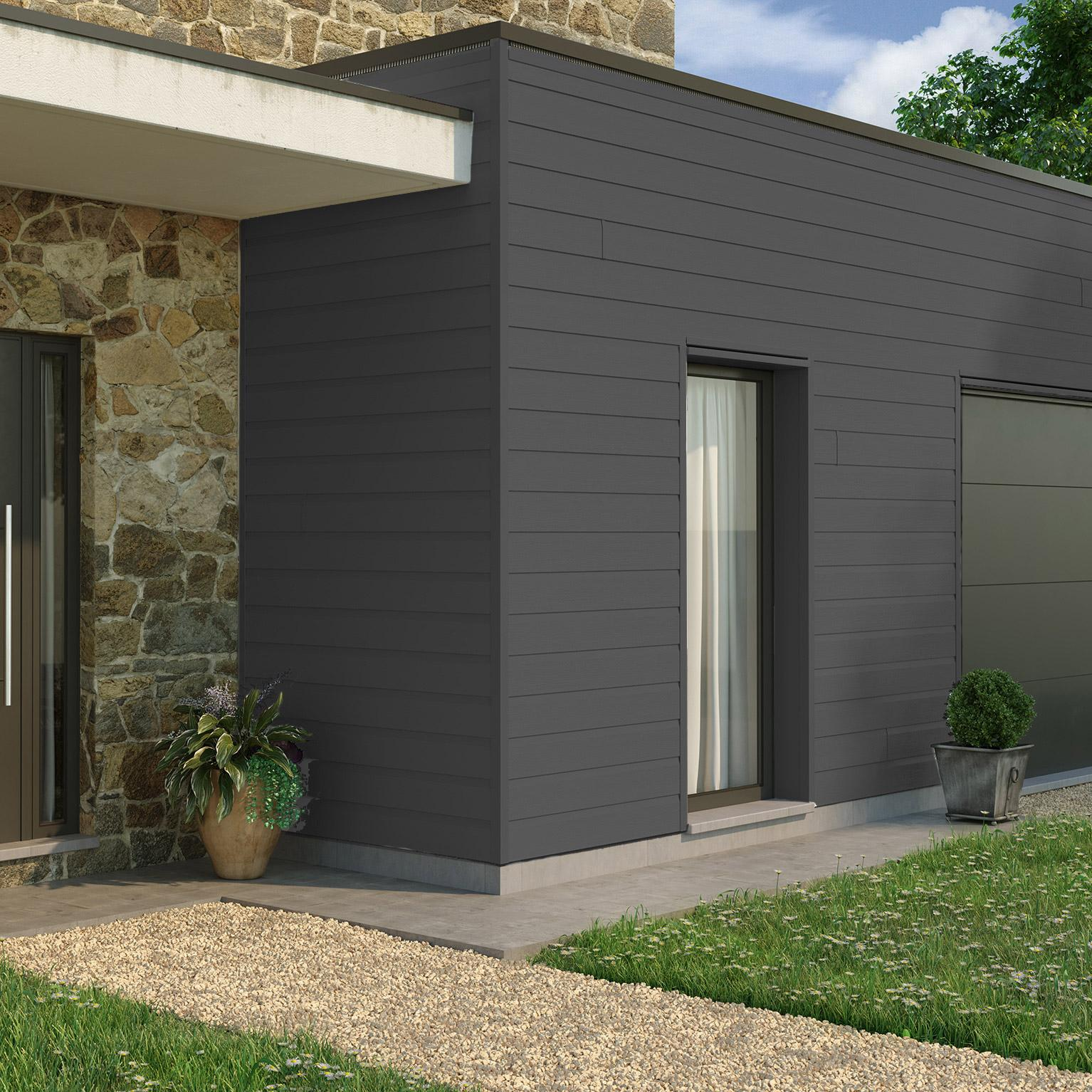 Clin Pour Bardage Anthracite Freefoam Solid Country 3 95 M Leroy Merlin